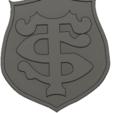 3D printer files toulouse rugby badge, davlebon