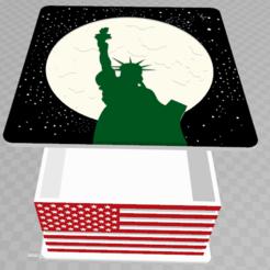 Download 3D printer files American storage box, davlebon