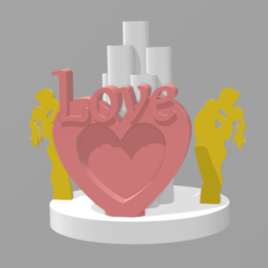 Download 3D printing models heart love, davlebon