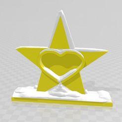 étoile.JPG Télécharger fichier STL étoile cœur enneigé • Objet pour imprimante 3D, davlebon