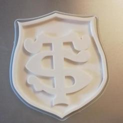3D printer files toulouse rugby badge, davlebon