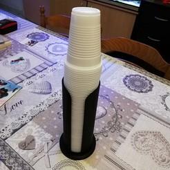 Télécharger fichier imprimante 3D distributeur de gobelet, davlebon