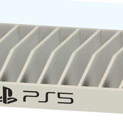 CASIER PS5.JPG Télécharger fichier STL Support de jeux playstation  • Plan imprimable en 3D, davlebon