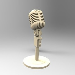 Download 3D printing designs old microphone, fer4lvarez