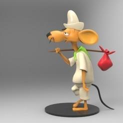 raton.jpg Télécharger fichier STL avertisseur de souris • Plan à imprimer en 3D, fer4lvarez