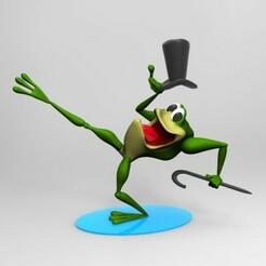 rana bailarina.jpg Télécharger fichier STL Grenouille de Warner • Objet imprimable en 3D, fer4lvarez