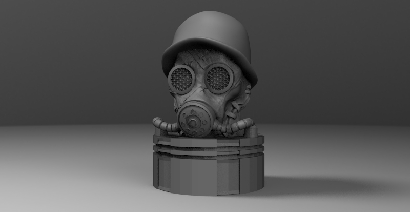 mascara.jpg Download STL file antique gas mask • 3D printer design, fer4lvarez