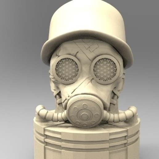 gas.300.jpg Download STL file antique gas mask • 3D printer design, fer4lvarez