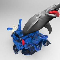 Download 3D printer templates shark attack, fer4lvarez