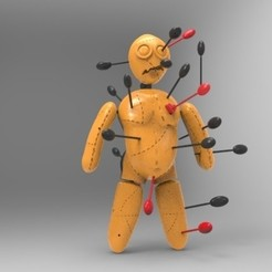 muñeco budu.jpg Download STL file voodoo doll • 3D printer model, fer4lvarez