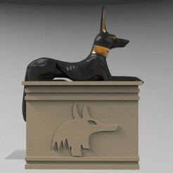 perro egipt.536.jpg Télécharger fichier STL Boîte égyptienne • Plan imprimable en 3D, fer4lvarez