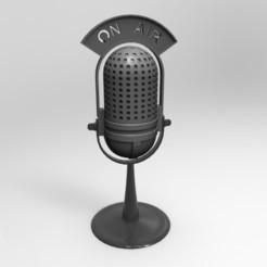 Download 3D printer files antique on air microphone, fer4lvarez