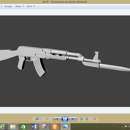 Download 3D printer model AK 47 Russian, OwiseLandry