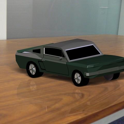 Download free STL Mustang model car model, DenisJ