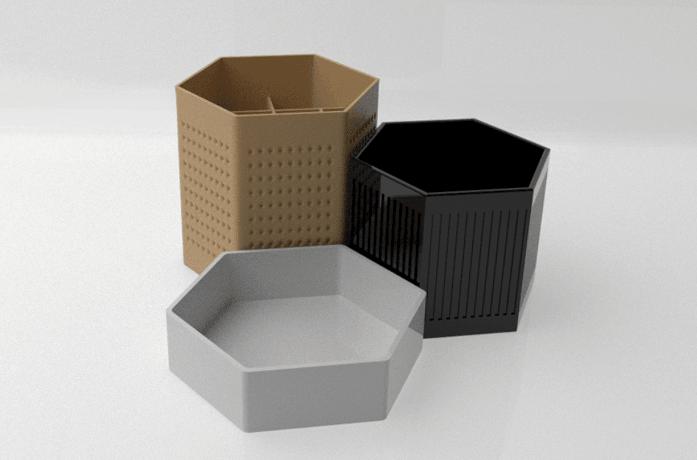 Rendu2 desk organizer.png Télécharger fichier STL gratuit Design desk organizer • Modèle imprimable en 3D, Syboulette