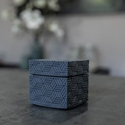 Download free 3D printing designs Square textured box, Syboulette
