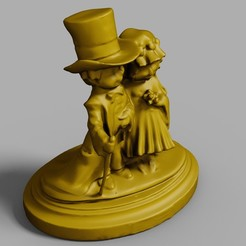 Imprimir en 3D Pareja de novios, DiginCreate