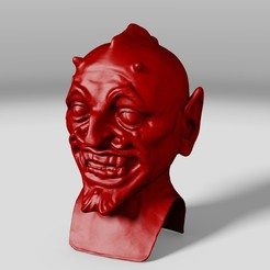 Descargar modelos 3D Cabezudo Demonio, DiginCreate