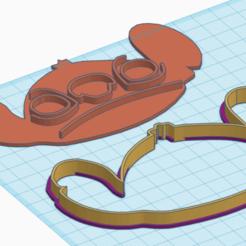 3D printer models Stitch face cookie cutter, willybujin