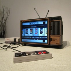 0.JPG Download STL file Mini Console: Retro TV • 3D printable design, Arcade