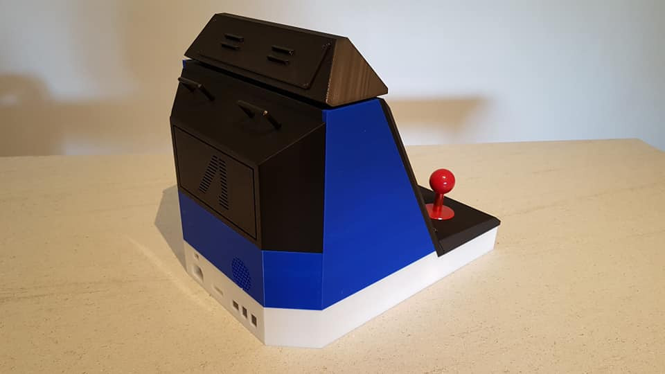img08.JPG Download STL file Mini bartop : Sega Aero City • 3D printing design, Arcade