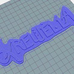 Télécharger fichier STL gratuit Logo Krewella • Plan pour impression 3D, Rinoxus