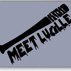 Download free STL file Meet Lucille • 3D printer model, Rinoxus