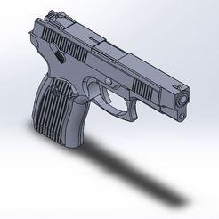 Download free 3D printing templates MP-443 Grach (Soviet pistol), Rinoxus