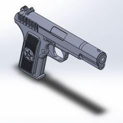 Download free 3D model TT-33 Soviet pistol, Rinoxus