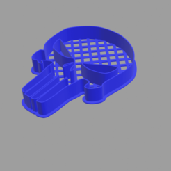 the-punisher.png Download STL file The Punisher Cookie Cutter • Model to 3D print, cesar_sanmartin