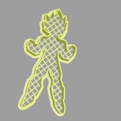 vegeta.png Télécharger fichier STL Coupe-biscuits végétalien • Modèle pour imprimante 3D, cesar_sanmartin