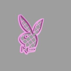 Télécharger fichier STL Logo Playboy Coupe-biscuits, cesar_sanmartin