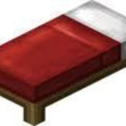 Free 3D printer designs red minecraft bed, cuic