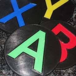 Download free 3D printer files Xbox control coasters, Beaver