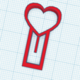 clip.png Download STL file paper clip love • 3D printing model, antonio_1996_206