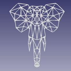 elefante.JPG Download STL file geometric elephant • 3D print model, antonio_1996_206
