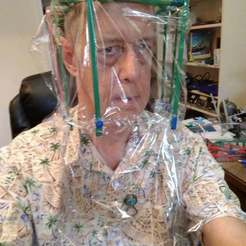 Download free STL file Plastic wrap based face shield, Leithauser