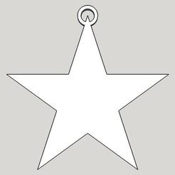 Descargar STL Adorno estrella para el árbol de Navidad, Leithauser