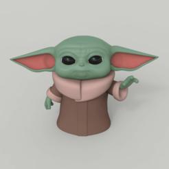 Télécharger fichier imprimante 3D bébé yoda, gerard185