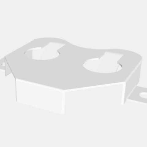 Diseños 3D Montaje en superficie Botón Portabaterías de Batería, EverlastingImpressions