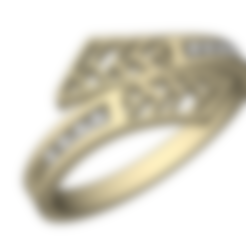 STL Anillo con engaste de diamantes, EverlastingImpressions