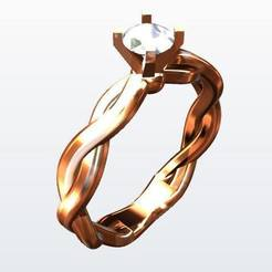 67448634_381111166153797_2083802910931550208_n.jpg Download STL file Engagement Ring  • 3D printable model, KalamityKontact