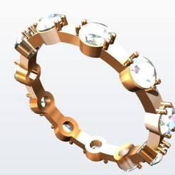 Download 3D printer designs White Gold Ring, KalamityKontact