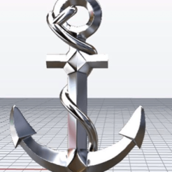 Download 3D model Boat Anchor Pendant from XXX Tentacion, KalamityKontact