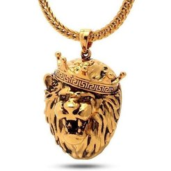 Download 3D printing templates Lion Head Pendant, KalamityKontact