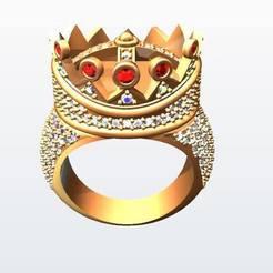 61698058_2070757656561729_4225680844926222336_n.jpg Download STL file Tupac's Self Designed Crown Ring • Design to 3D print, KalamityKontact