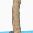 3D printing model Long Dong With small Balls, Impressed