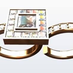 Impresiones 3D Anillo estilo cartier de 2 dedos, KalamityKontact