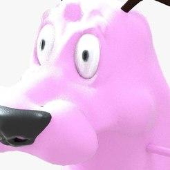Impresiones 3D Valentía amañada el modelo 3d del perro cobarde, KalamityKontact