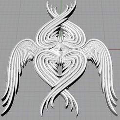 Download 3D printer files Seraphim Angel Pendant, EverlastingImpressions